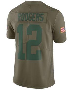 Nike Men's Aaron Rodgers Green Bay Packers Salute To Service Jersey & Reviews - Sports Fan Shop By Lids - Men - Macy's
