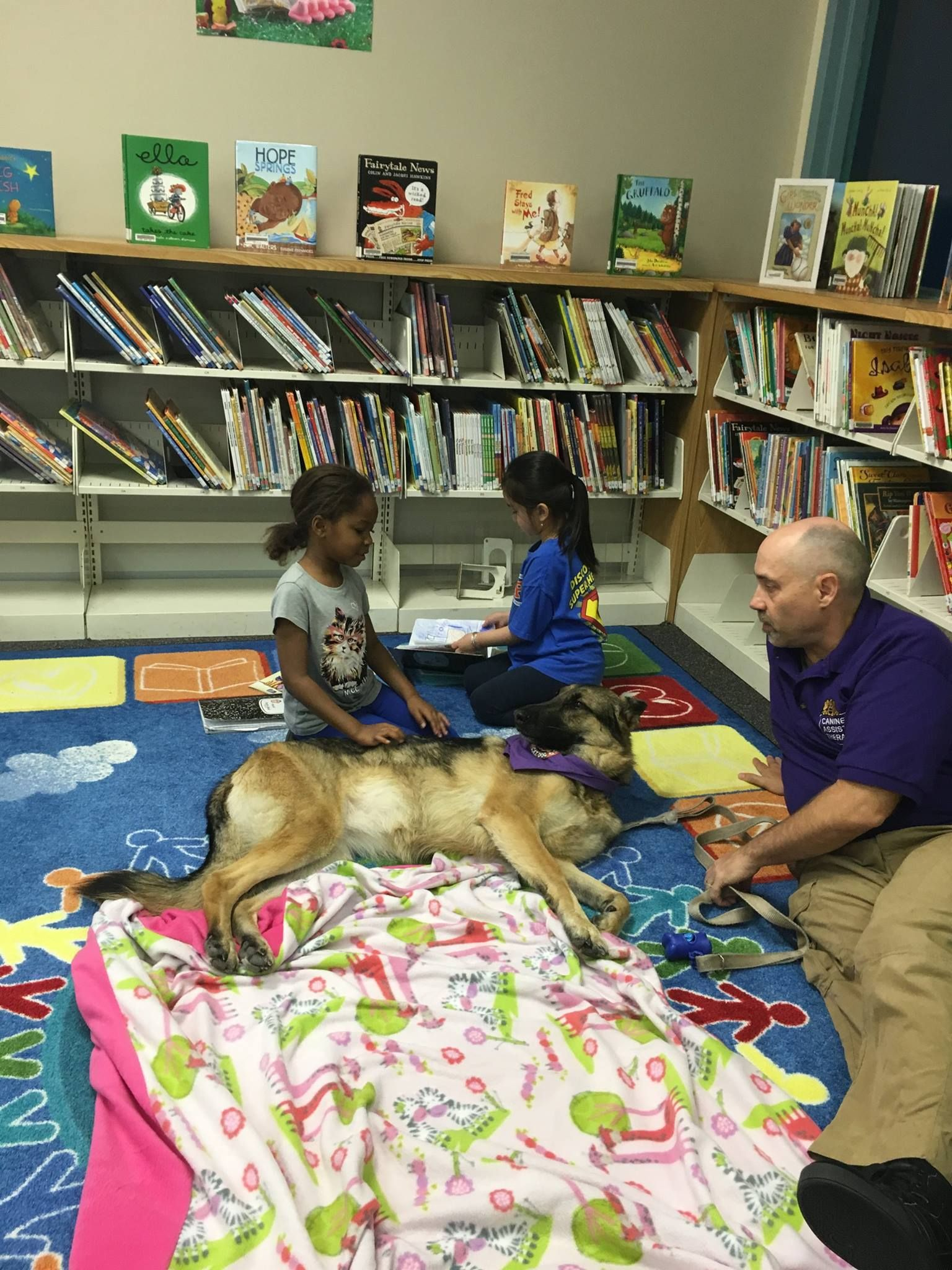 Coco Doing Therapy Dog Work At Riverglades Elementary In Parkland