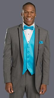 grey and turquoise tuxedo - Google Search | Potential tux styles ...