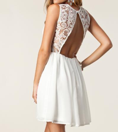 Sexy lace stitching halter dress AX52705ax