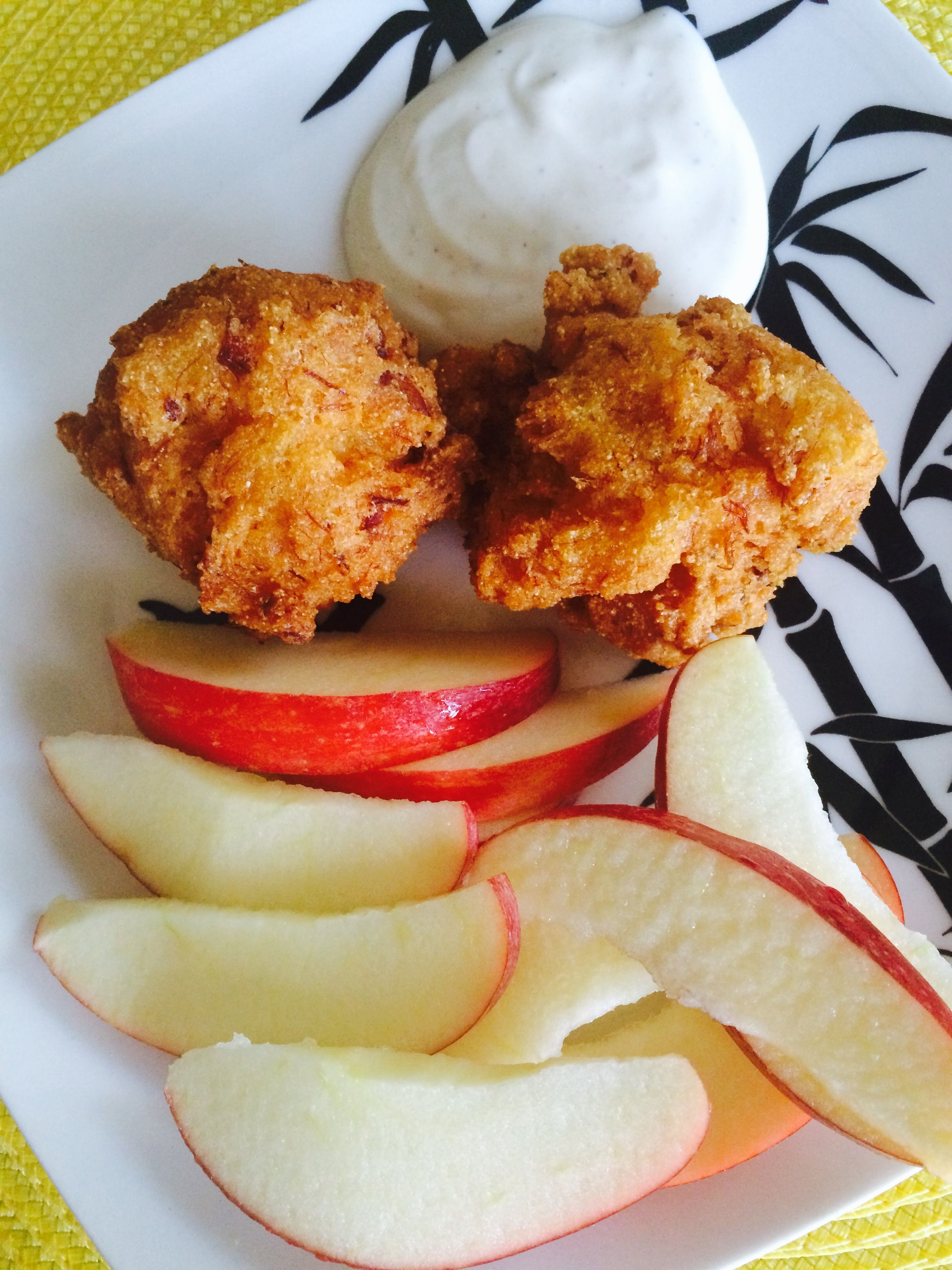 Saltfish hush puppies with ranch