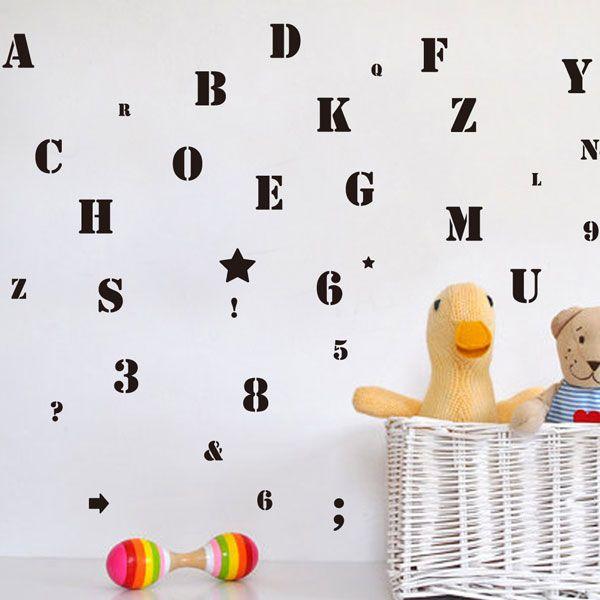 ウォールステッカー(アルファベット ナンバー) | ニトリ公式通販 家具 ...
