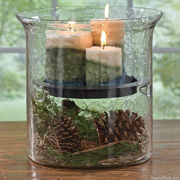 Hammered Glass Cylinder With Candle Pan Candle Decor Glass Candle Holders Simple Decor