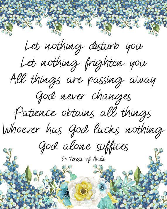Saint Teresa Of Avila Let Nothing Disturb You Let Nothing