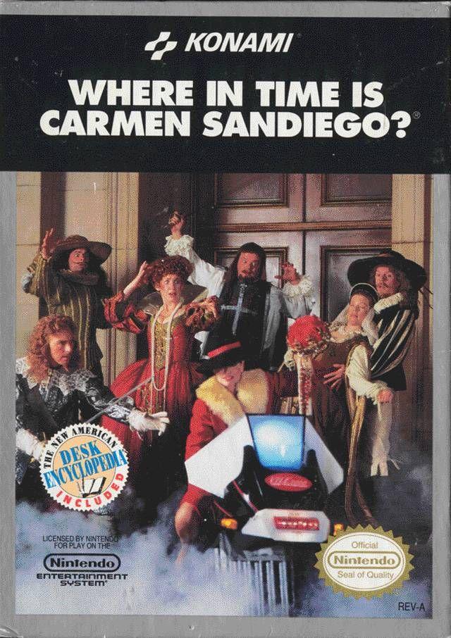 Where In Time Is Carmen Sandiego Nes Carmen Sandiego Nintendo Nes Classic Video Games