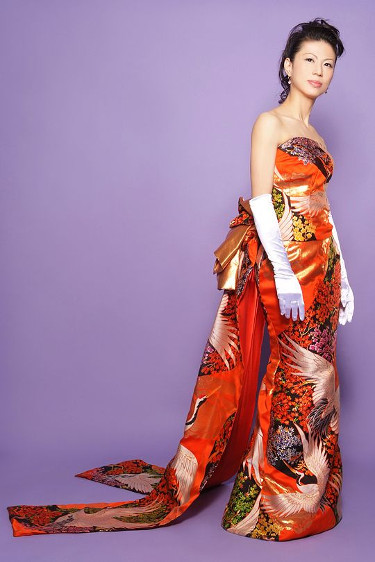 Japanese style wedding ceremony clothes. New style Kimono. | Gowns ...