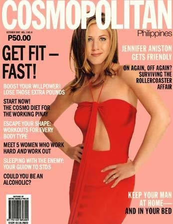 Jennifer Aniston Cosmopolitan Philippines Oct 1997 Jennifer