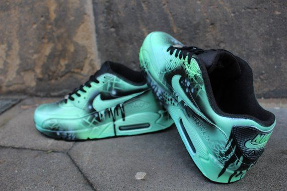 Custom Painted Nike Air max 90 Thunderdome Techno Sneaker
