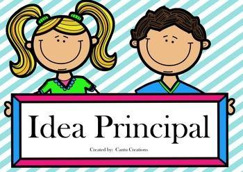 Idea Principal Main Idea Task Cards Spanish Task Cards Elementary Education Activities Spanish Reading Activities