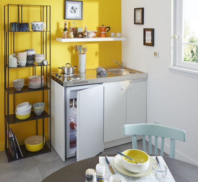 Amenagement Kitchenette: Une Kitchenette Réversible à Monter Soi-même (avec Images