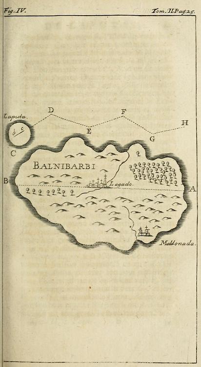 Voyages du capitaine Lemuel Gulliver en divers pays eloignez, 1730