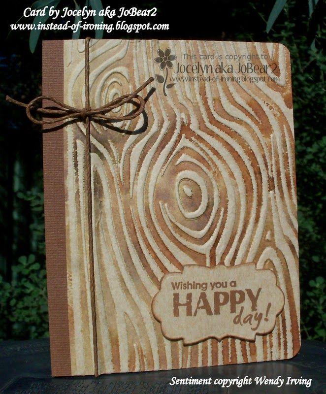 Darice Wood Grain Embossing Folder
