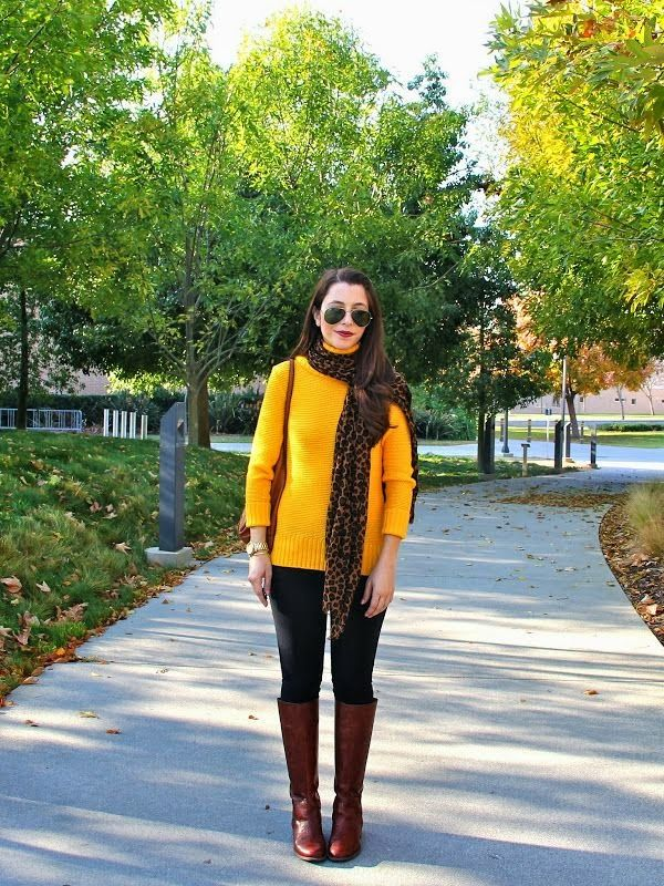 d35020fc88 Love this look of mustard but for me it would definitely have to have a  scarf because of my complexion