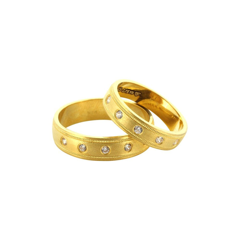 Tanujaa Stylish Bis Hallmark Collection 22k Yellow Gold Wedding Band Sets