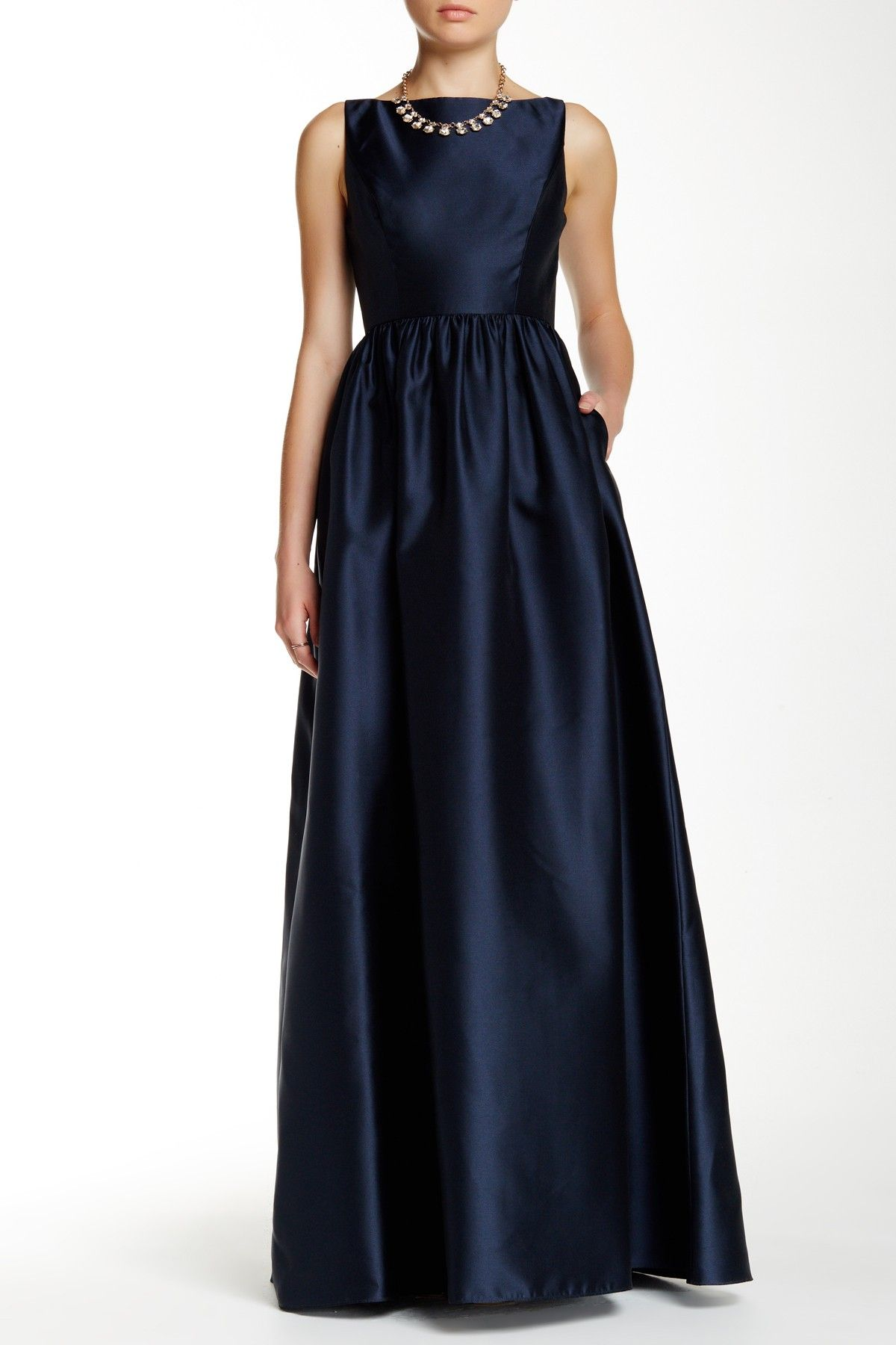 Sleeveless Mikado Ballgown | Adrianna papell, Nordstrom and Gowns