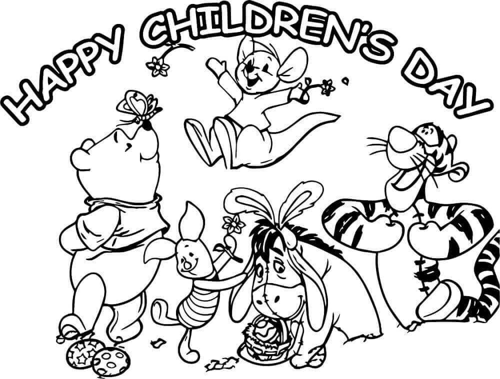 Happy Childrens Day Coloring Pages Printable Educacao