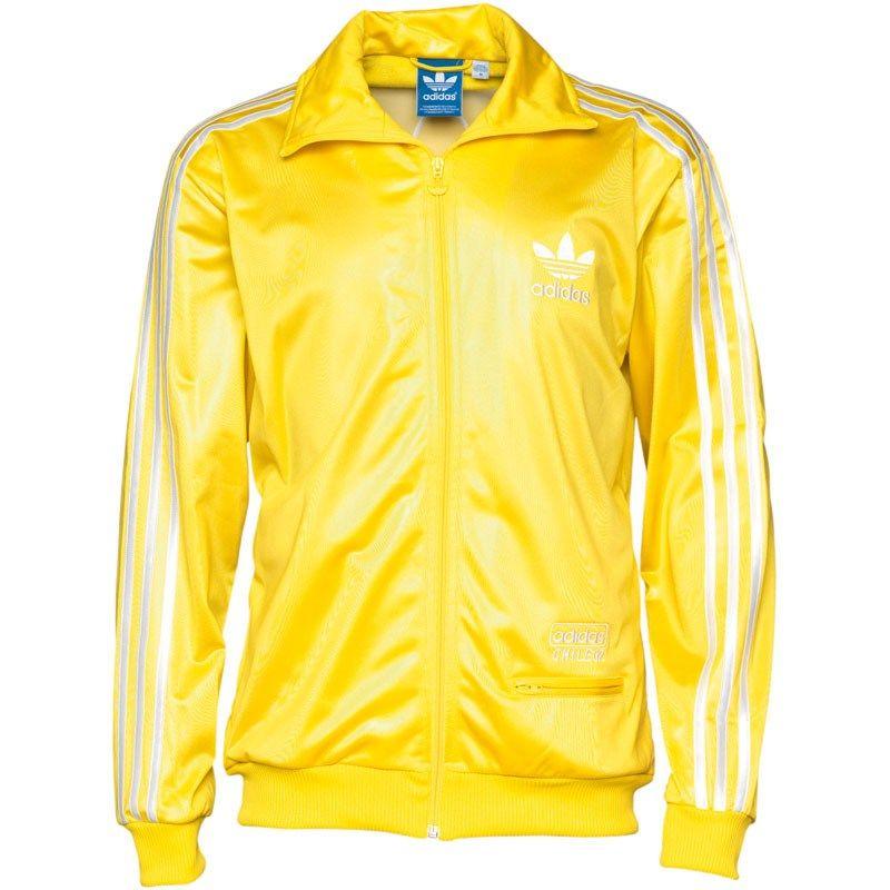 Oferta ProSports - Bluza de trening barbati Adidas Originals Chile 62  Trefoil Track Galbena - http