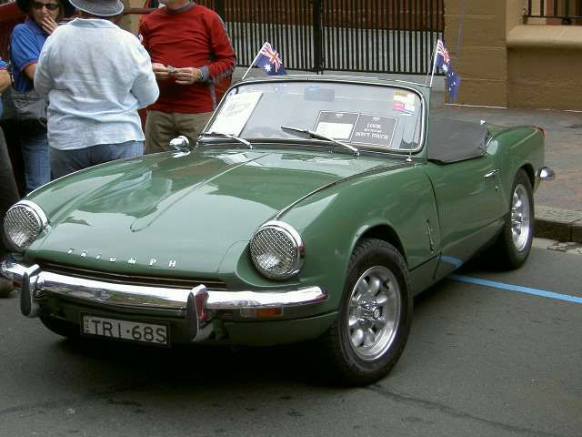1968 Triumph Spitfire in British Racing Green | Antiques