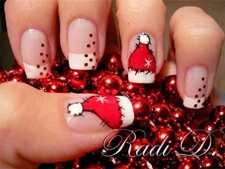 20 Easy Simple Christmas Nail Art Designs Ideas Stickers 2014 Xmas