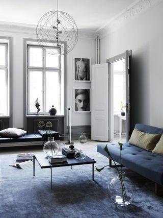 Anna gillar Bloglovinu0027 Living blue, grey \ green- Grau liebt - wohnzimmer ideen grau grun