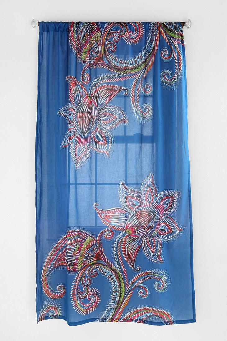 Urbanoutfitters ue sketch paisley flowers curtain urban living