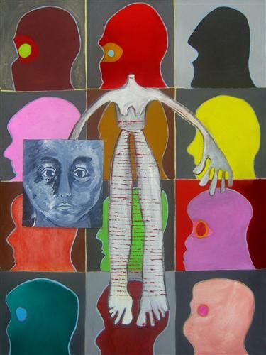 Self Portrait by Marguerite McDonald in the Open Door Gallery April 2012
