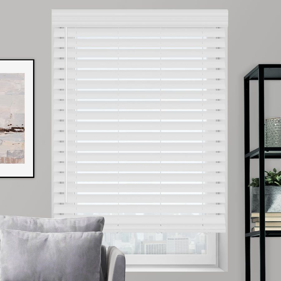 "2 1/2"" Premium Faux Wood Blinds Wood blinds, Premium"