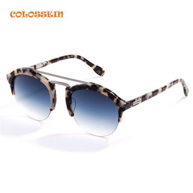 80b660d84e For Only   25.99 COLOSSEIN Fashion Sunglasses Women Men Hot Summer Vintage  Holiday Cat Eye Style Round Glasses 2017 New Popular Eyewear Brand  Name COLOSSEIN ...
