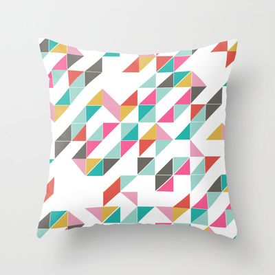 Love Triangle Throw Pillow By Laurie Cosgrove Society6 Affordable Art Prints Pillows Throw Pillows