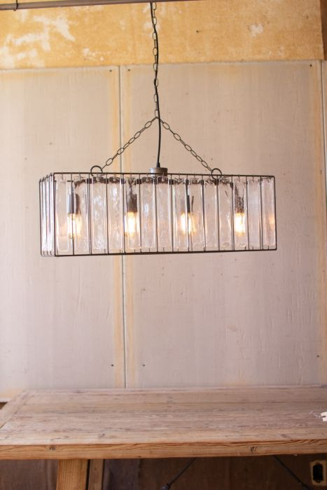 Rectangle Pendant Light With Glass Chimes In 2020 Rustic Lighting Diy Pendant Light Modern Chandelier