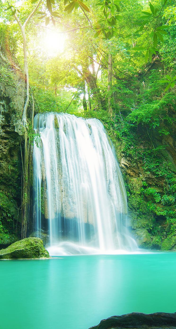 Background Waterfall Beautiful Nature Beautiful Landscapes Scenic Waterfall
