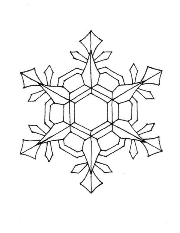 christmas snow flacks coloring pages - photo#7