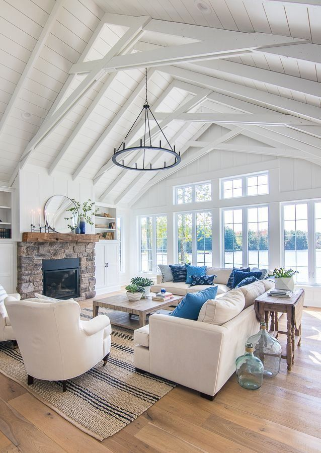 Navy and French Blue Pillows - The Lilypad Cottage in 2020 ...