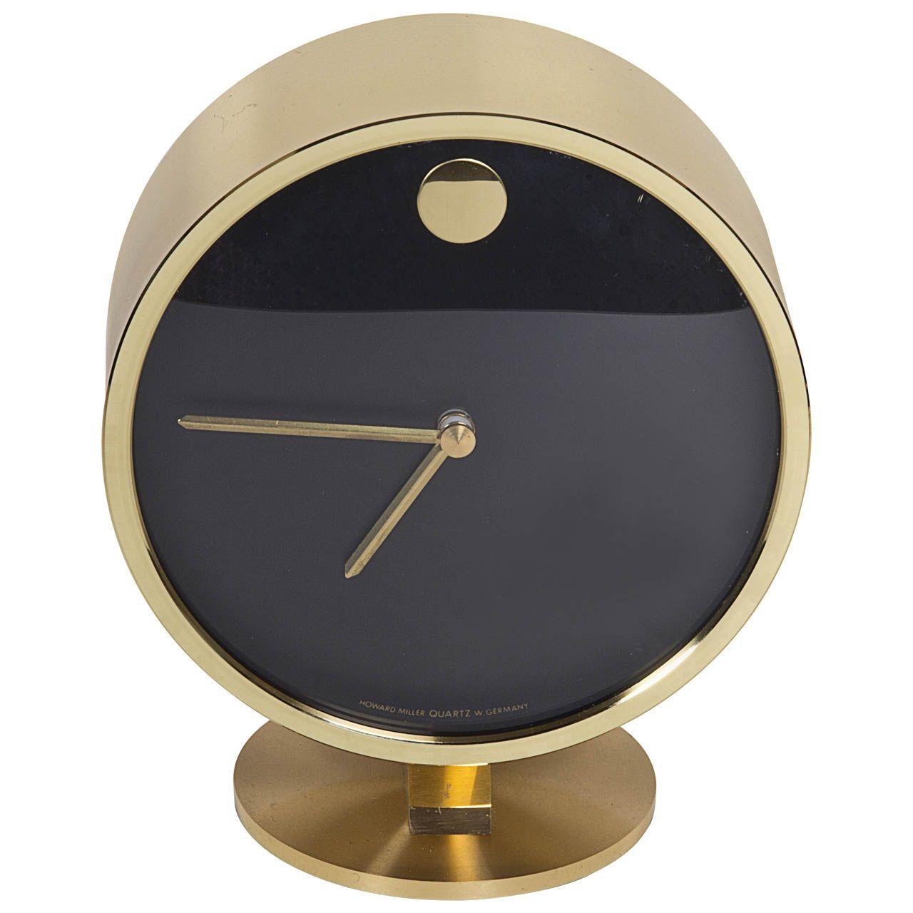 Gorgeous Brass Midcentury Desk Clock   Mid Century Modern ...