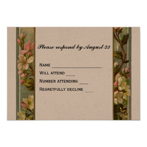 catholic wedding invitation vintage lily cross rsvp card - Catholic Wedding Invitations
