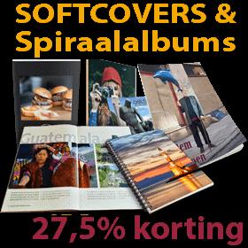#Zomeractie: #Softcovers & #Spiraalalbums 27,5% #korting We krijgen ook veel verzoeken om weer eens een #speciale_actie te doen voor #flatlay_softcovers, spiraalalbums, #magazines en #fotobladen. #Hardcover_albums verkopen we het meest en daarom richten we daar ook veelal onze #acties op. Bijna 40% van de #albums zijn geen #hardcover_album. Daarom hebben we maar gelijk gehoor gegeven aan deze verzoeken. In week 4 geven we dan ook maar liefst 27,5% korting op alle softcovers, spiraalalbums…