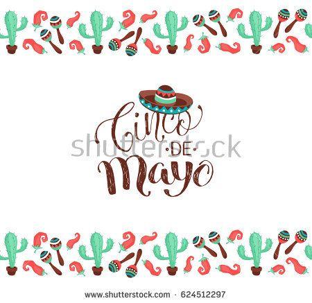 Cinco De Mayo Poster In Horizontal Stripe Composition Mexican