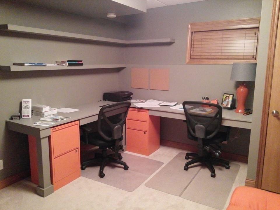 Basement Office After Basement Home Office Basement Office Home