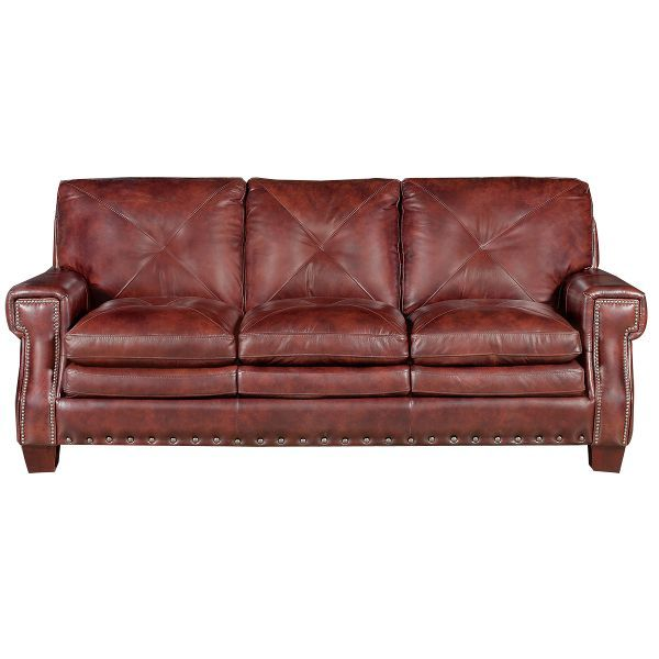 Mckinney 88 Burgundy Leather Sofa 88 99999 Living Room