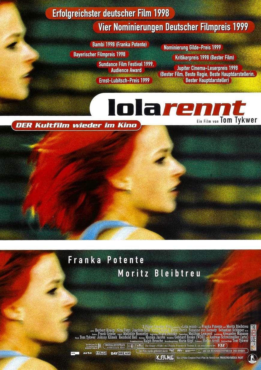 Corre Lola, corre (1998) de Tom Tykwer (http://ultracuerpos.com/fichas/corre-lola-corre-1998-tom-tykwer/) #pelicula #poster