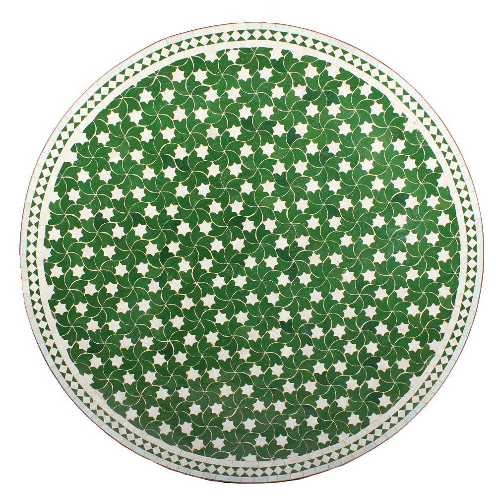 Marokkanischer Mosaiktisch Maar Grun 120 Cm Mit Bildern
