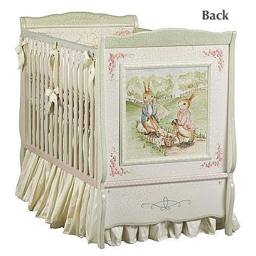 Enchanted Forest Crib Painted Cribstraditional Cribspeter Rabbit Nurserybaby Furniturefurniture
