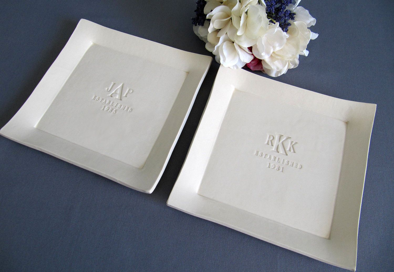 Parent Wedding Gift Set Of Personalized Platters Gift Boxed