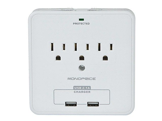 Dailydeal 10 29 14 25 Off 3 Outlet Power Surge Protector Wall