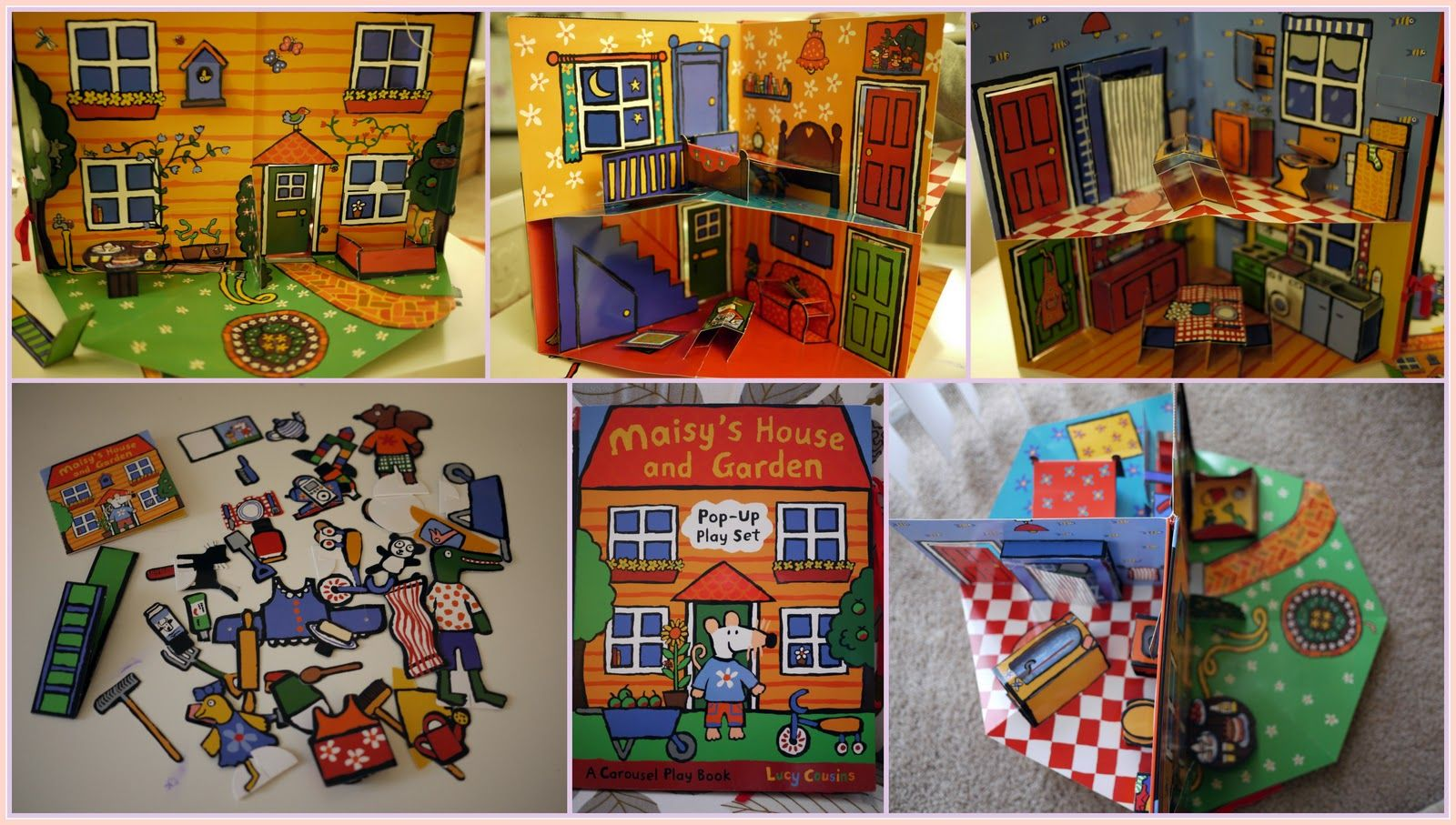 Maisy S House And Garden Pop Up Play Set A Carousel Play Book Lucy Cousins Paper Doll House Pop Up Book Pop Up Play