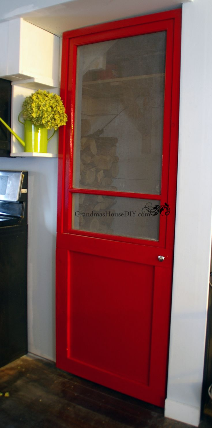 How to build a red screen door out of an old window tutorial ...