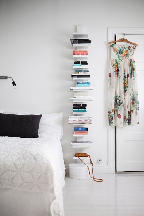 9 Clever Nightstand Alternatives For Small Spaces Small Bedroom Decor Studio Apartment Decorating Apartment Decor