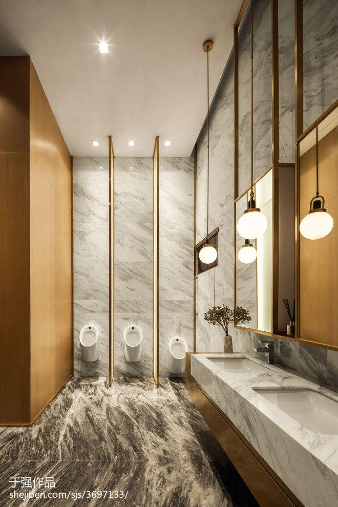 卓越蔚蓝郡销售中心 城市咖啡的抒情品质 3074478 Washroom Design Restroom Design Bathroom Interior Design