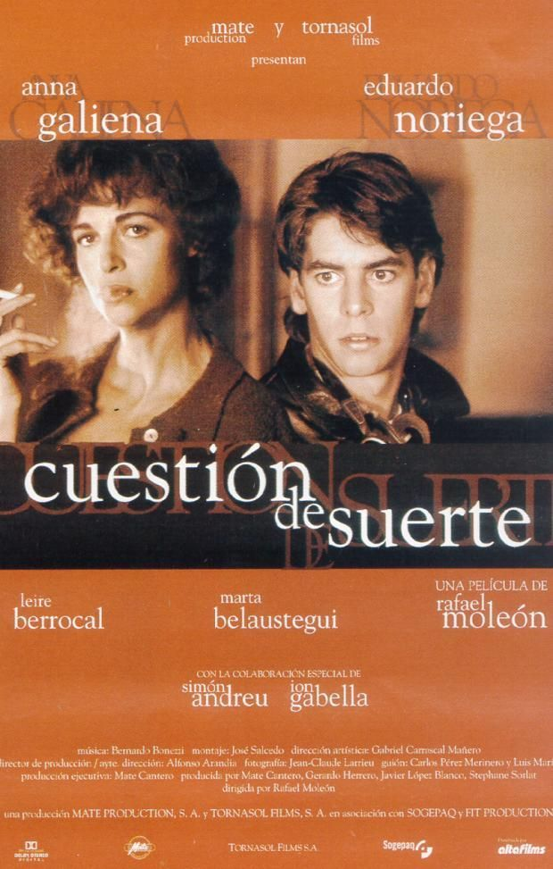Question Of Luck Cuestion De Suerte 1996 Filmaffinity Suerte Carteles De Películas Cartel Cinematográfico
