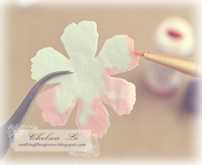 """Crafting Life's Pieces: """"Beauty"""" shabby chic card - carnation flower tutorial"""